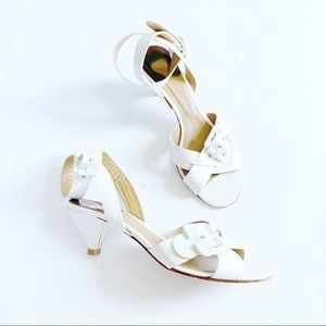CHLOE Patent Leather Buckle Sandal Block Heel